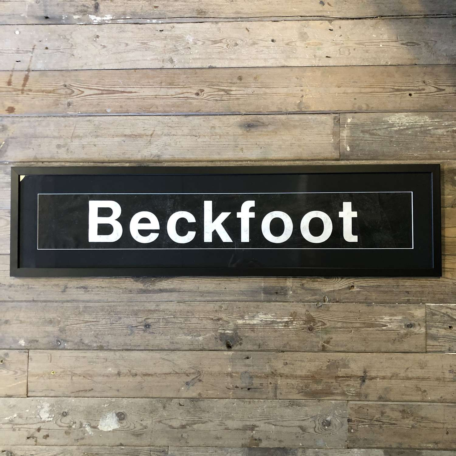 Vintage bus blind 'Beckfoot' Framed