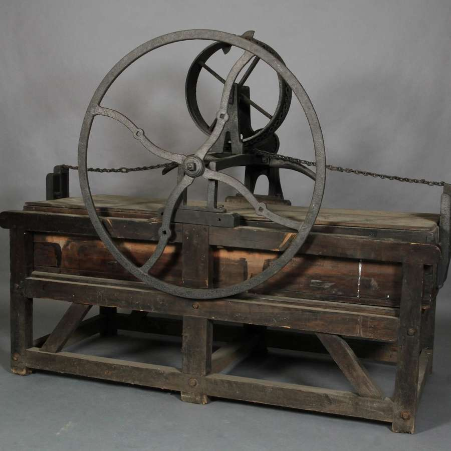 19th century country mangle