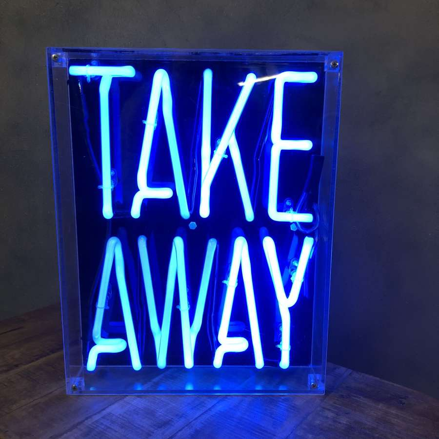 Neon 'Takeaway' in Blue