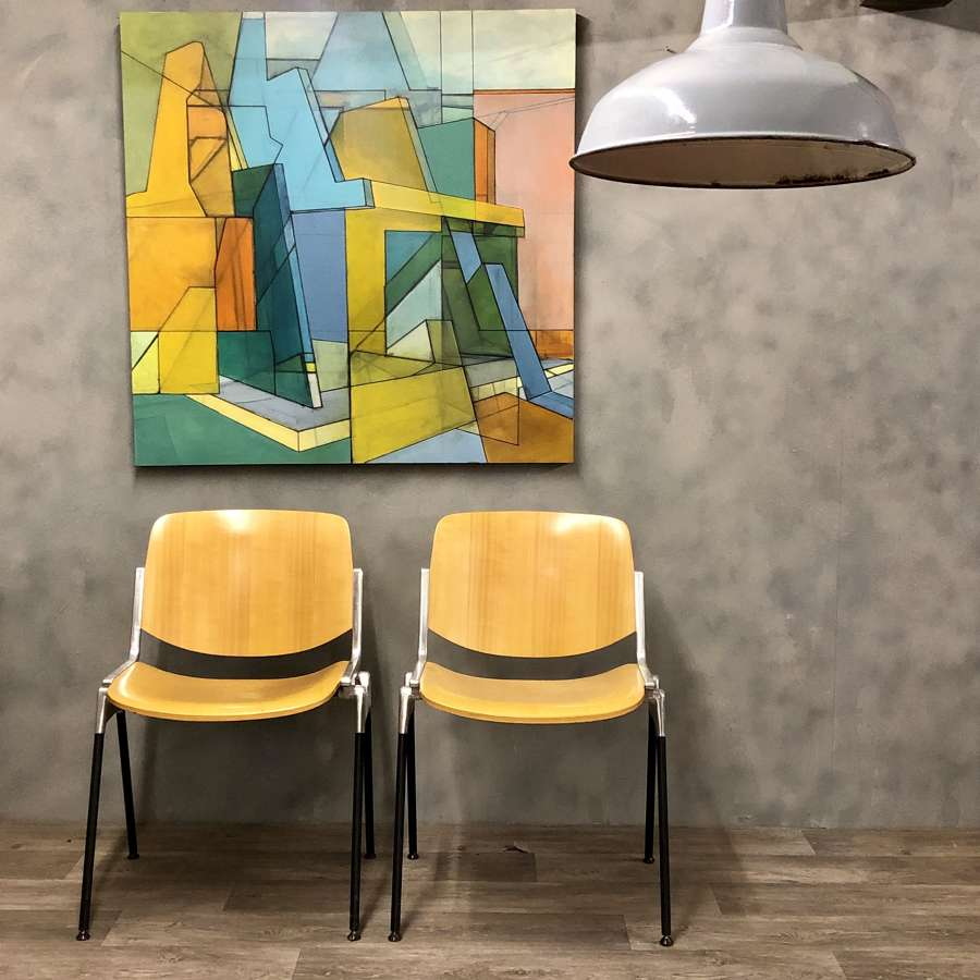 Dining DSC Axis 106 chairs by Giancarlo Piretti for Castelli. 1960s