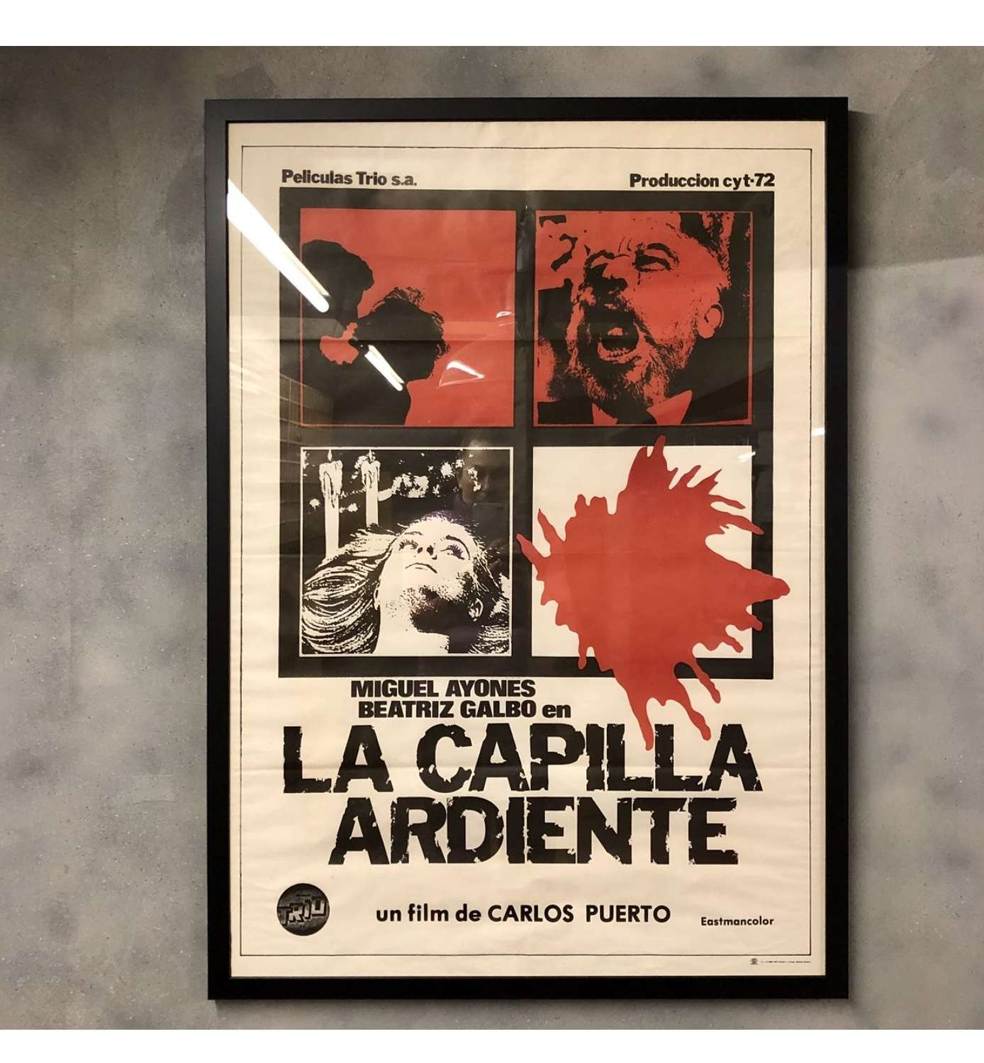 Vintage Original Movie Poster spanish
