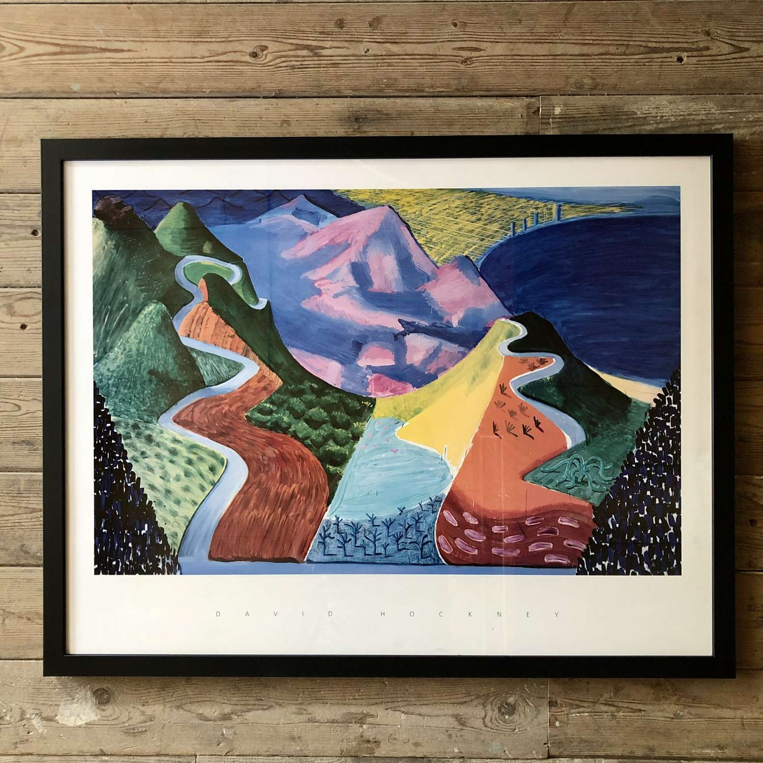 David Hockney Print Framed