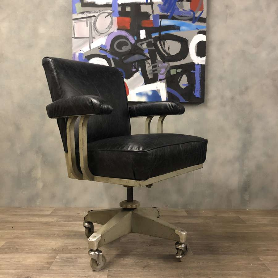 Industrial Desk Chair 1930s Deco Style