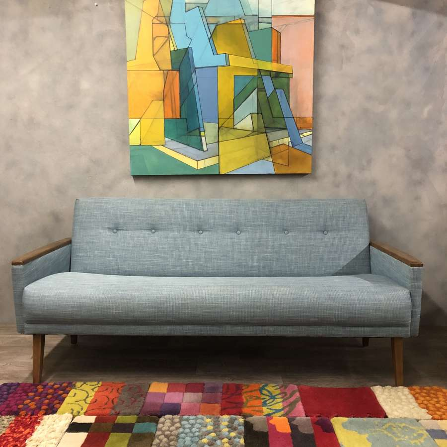 Midcentury inspired 3 seater sofa in Teal