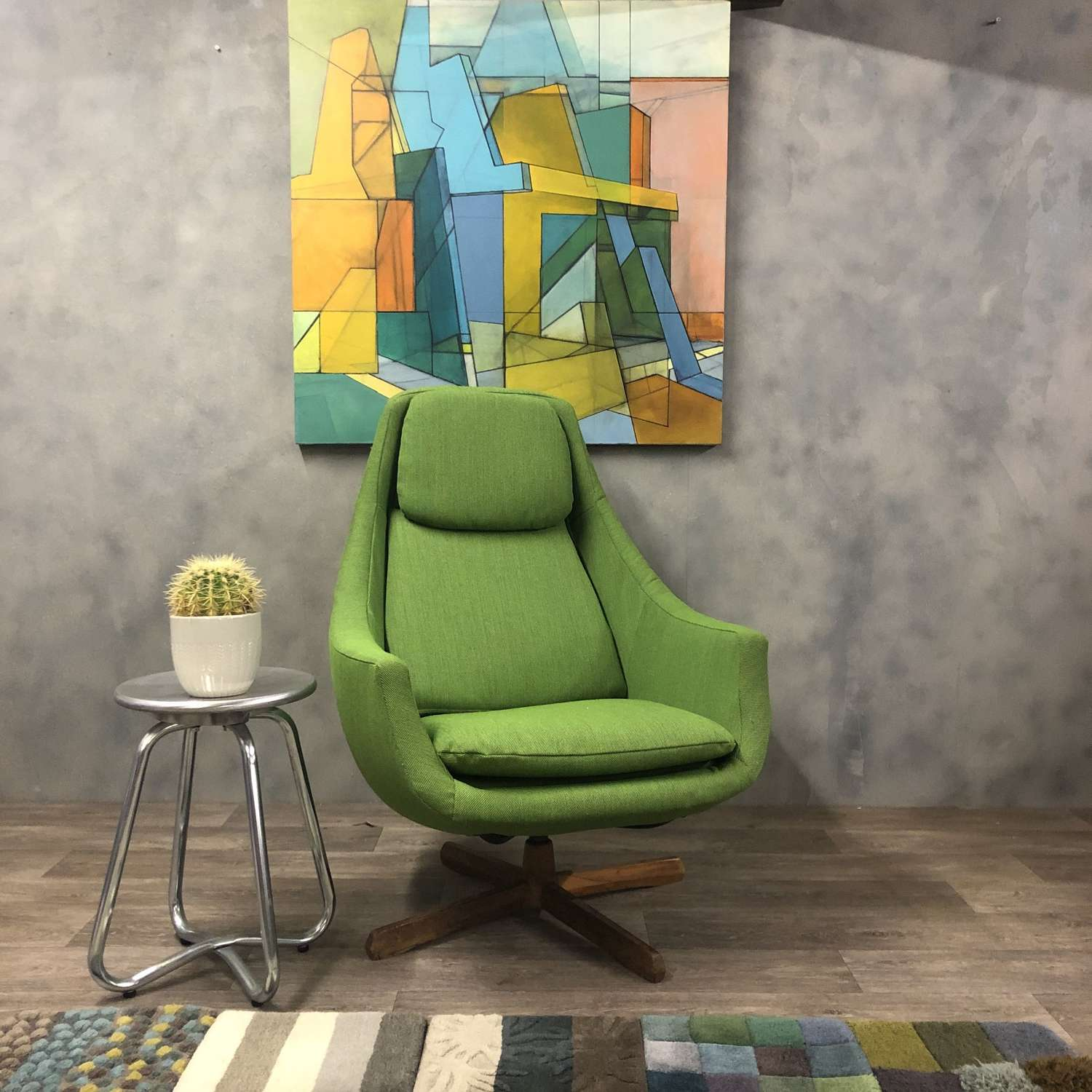 Swedish Midcentury lounge chair reupholstered