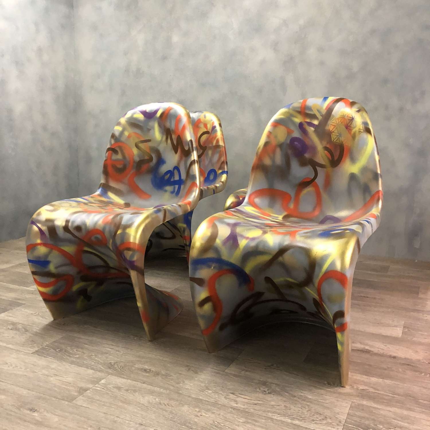 Verner Panton style chairs (4)