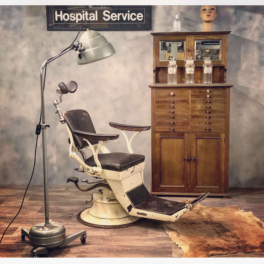 Vintage dentist chair French