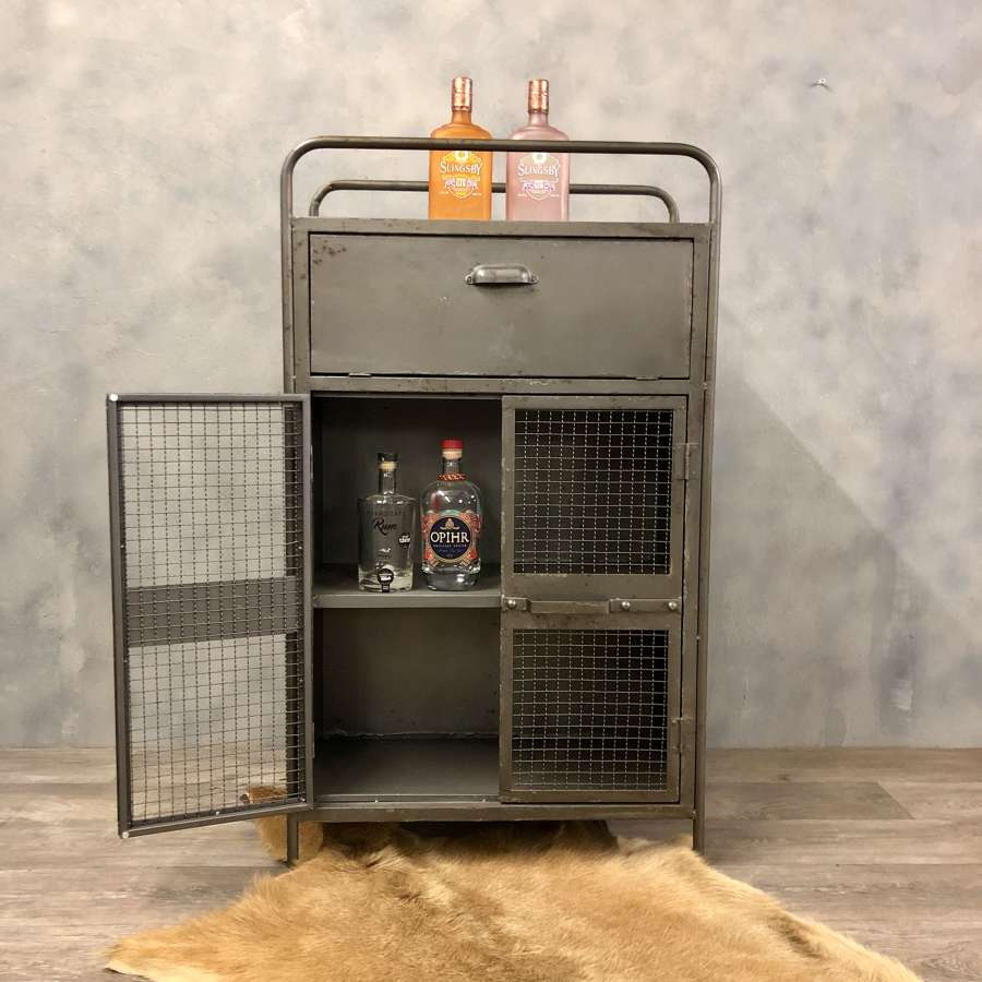 Industrial style cabinet drinks storage