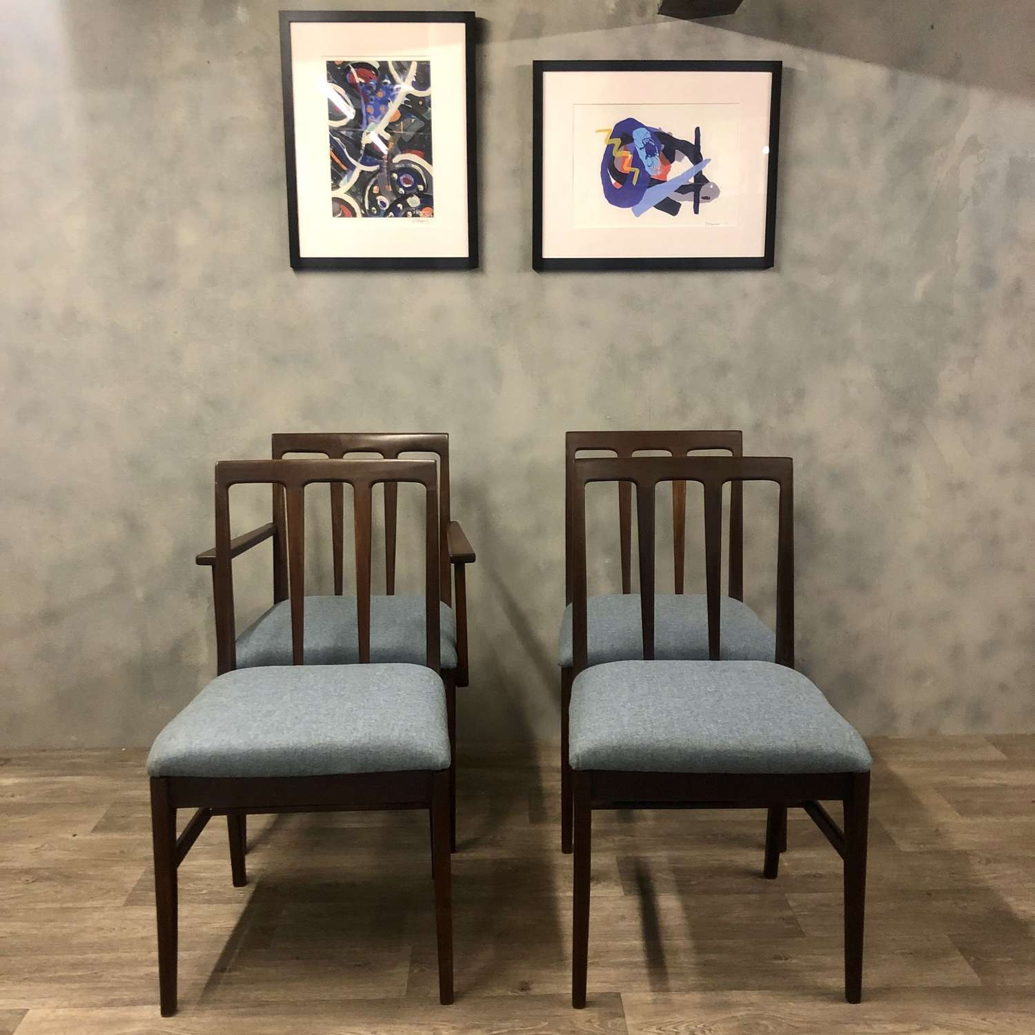 Sleek and stylish Midcentury A Younger dining chairs