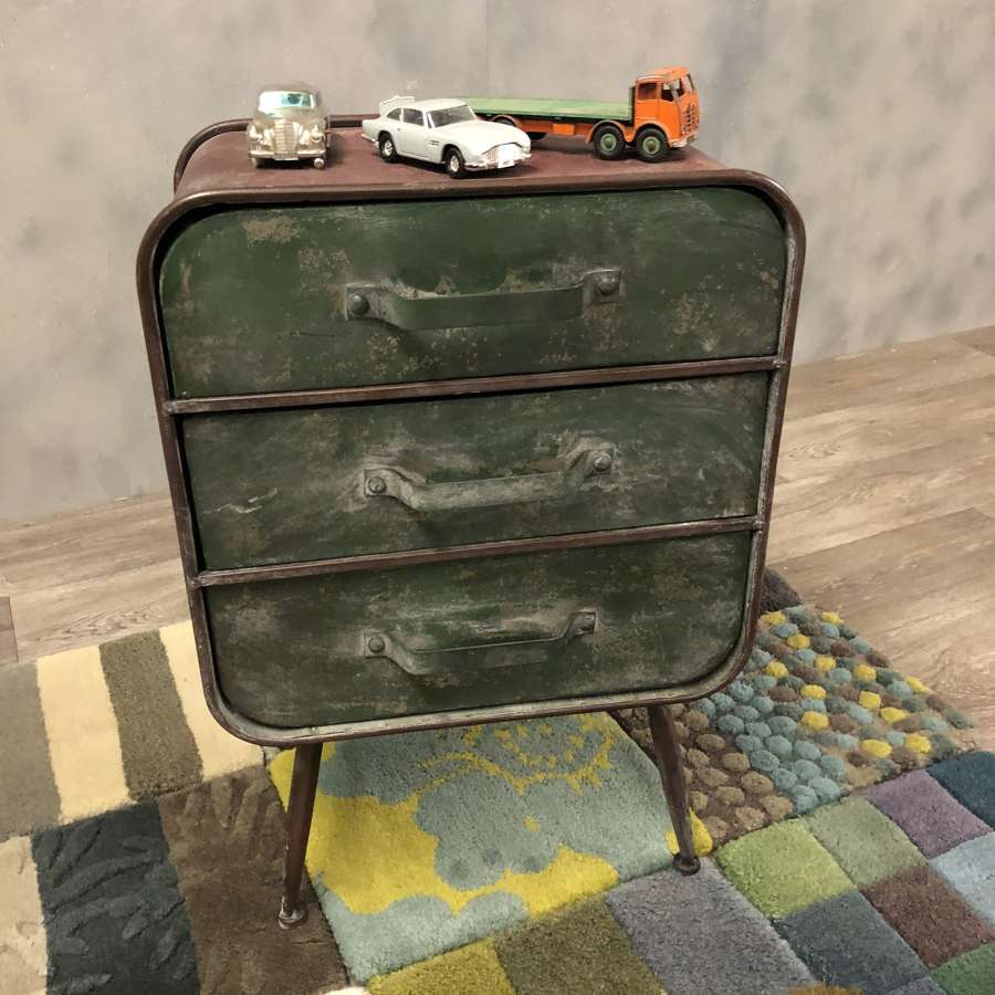 Industrial style bedside tables
