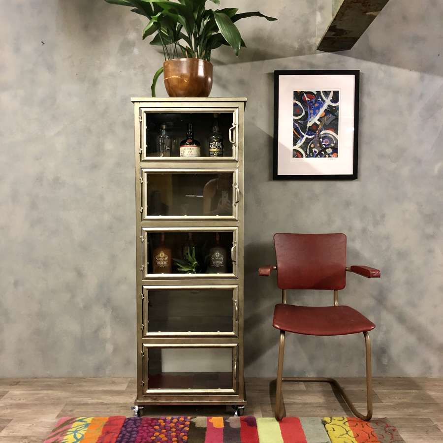 Industrial style drinks or books cabinet