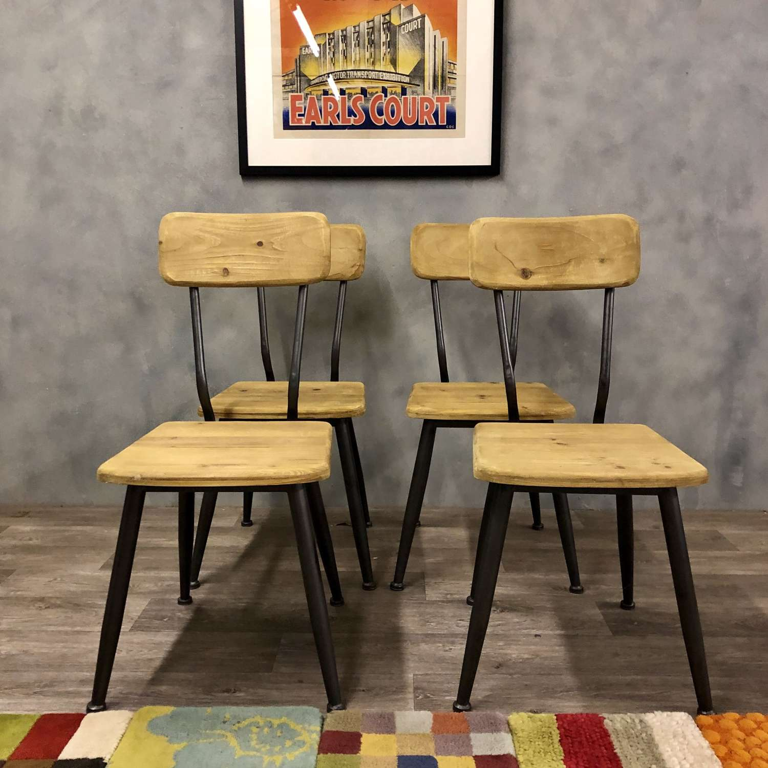Industrial style dining chairs 4