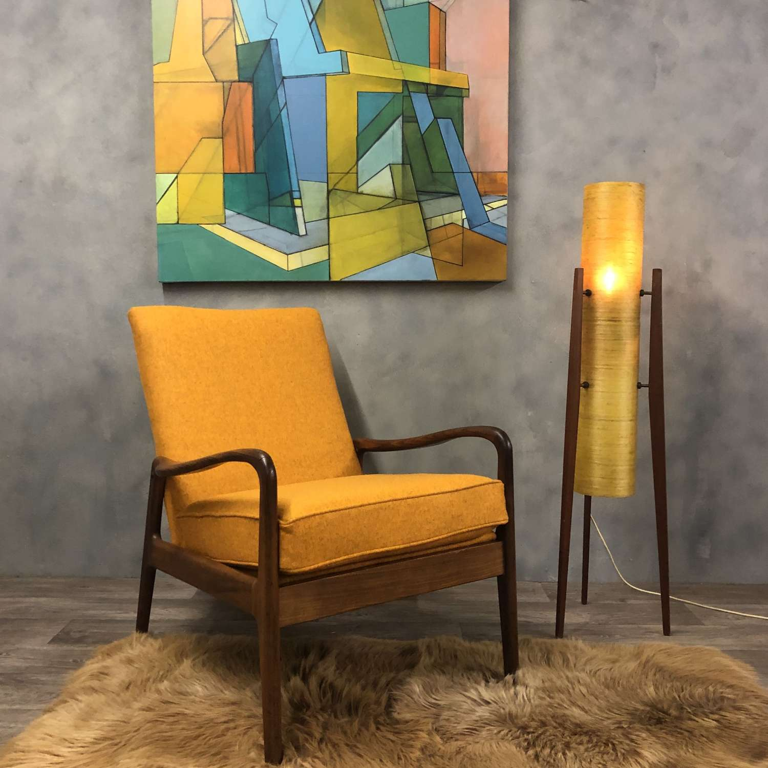 Midcentury Greaves and Thomas lounge chair
