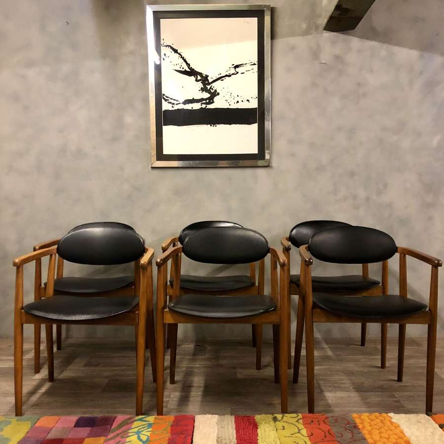Vintage set of 4 dining chairs by Ligna