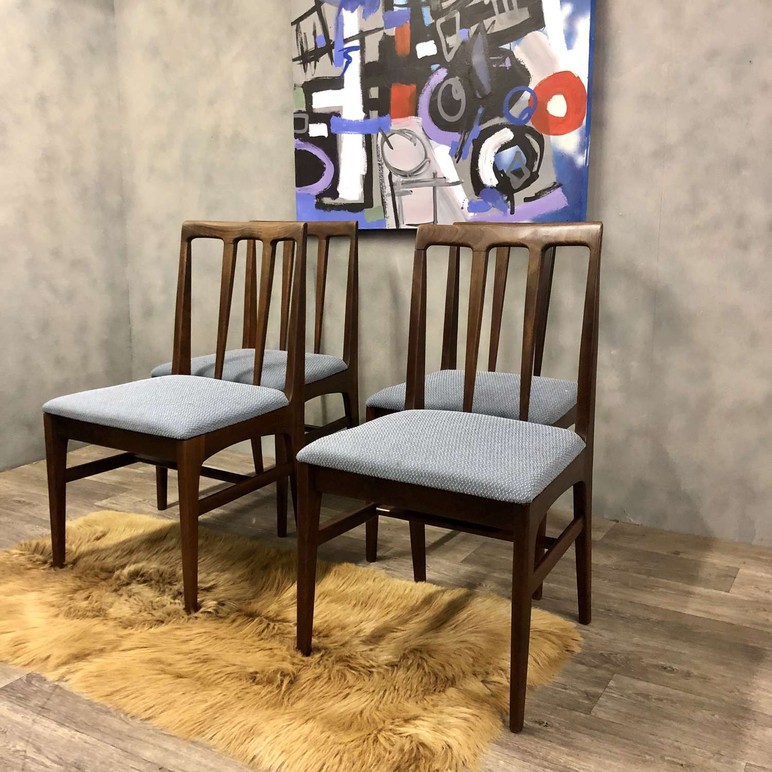 Dining chairs midcentury Afromosia (6)