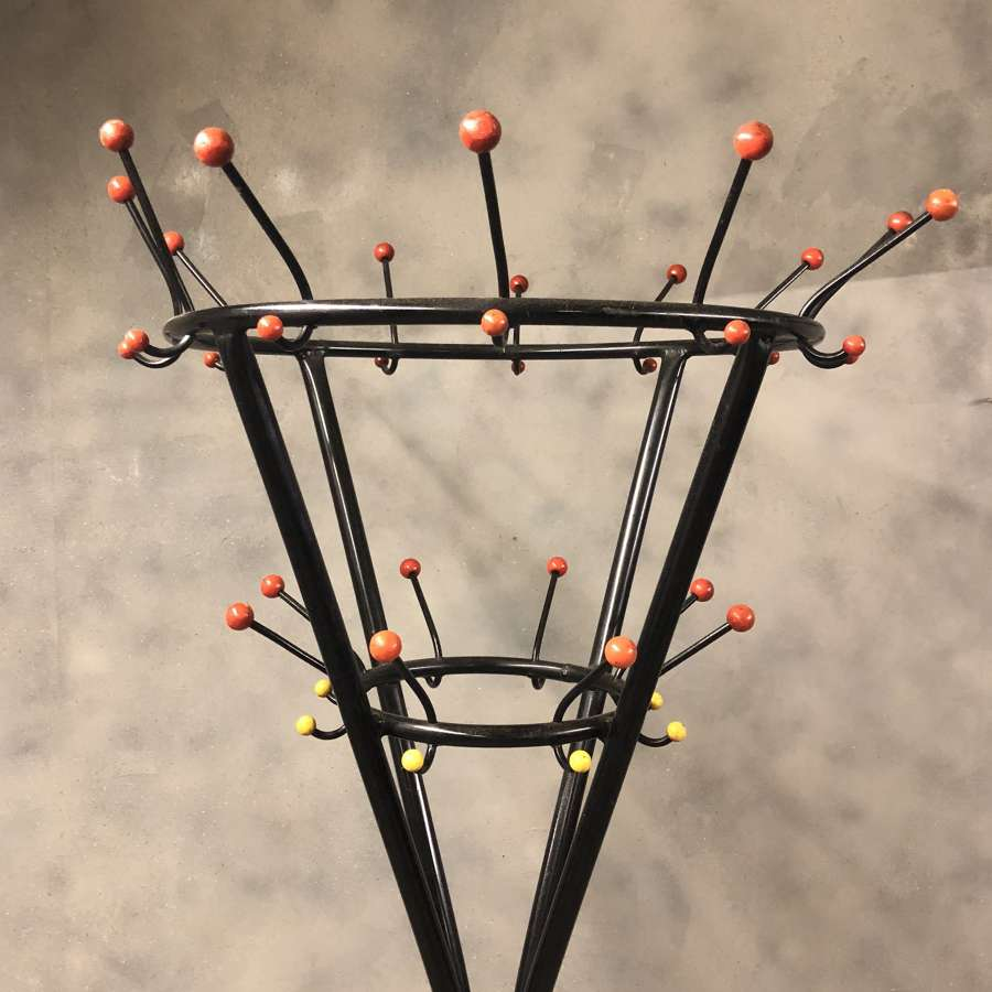 Retro coat stand Atomic 1970s