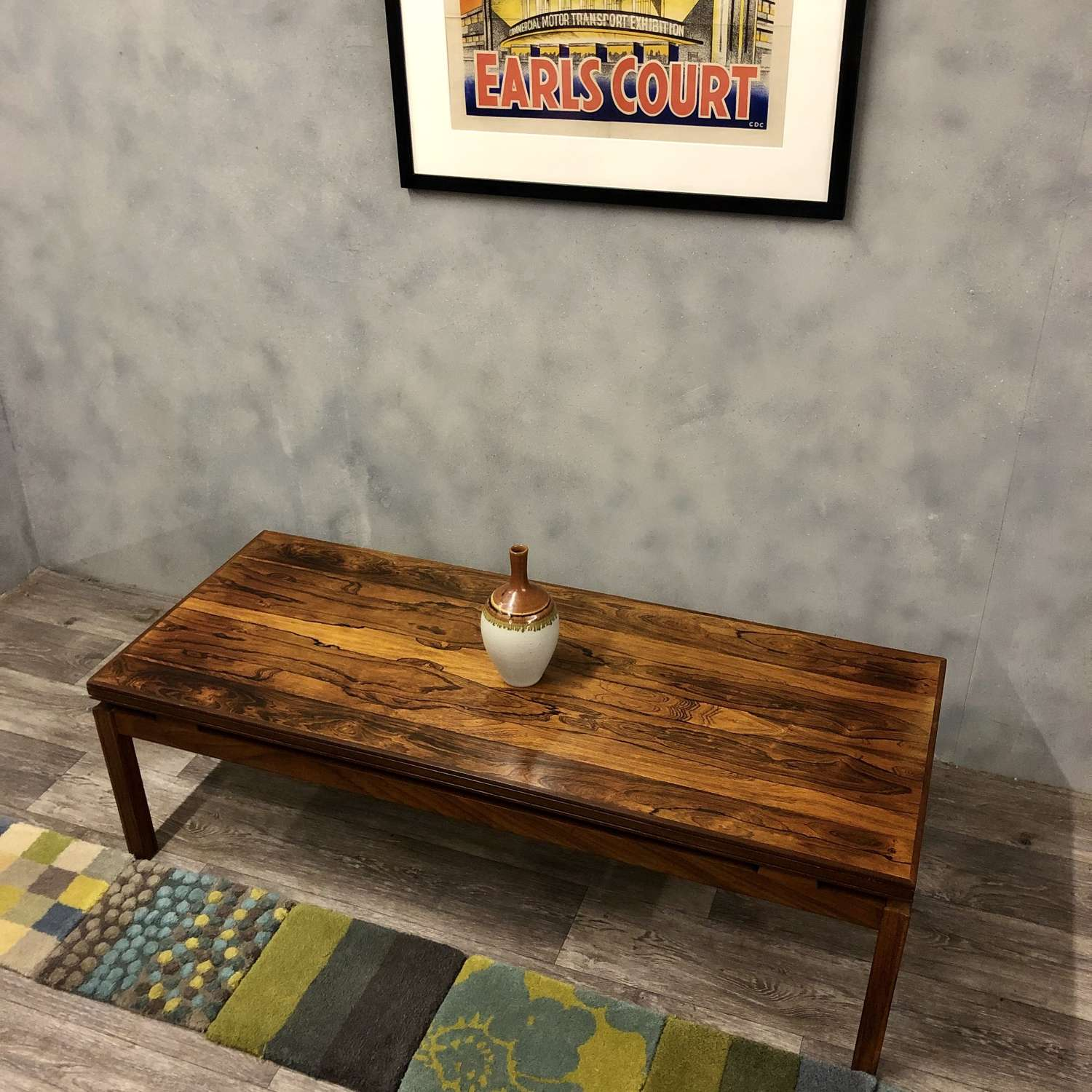 Midcentury coffee table rosewood