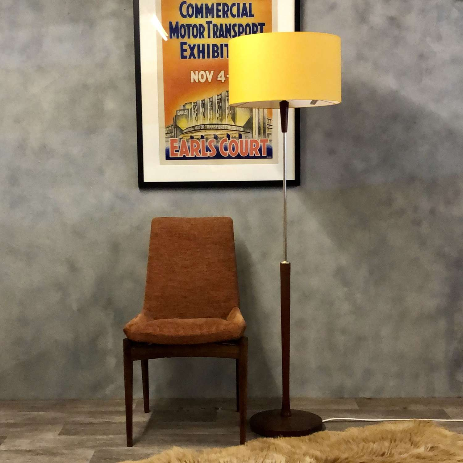 Danish floor standing lamp