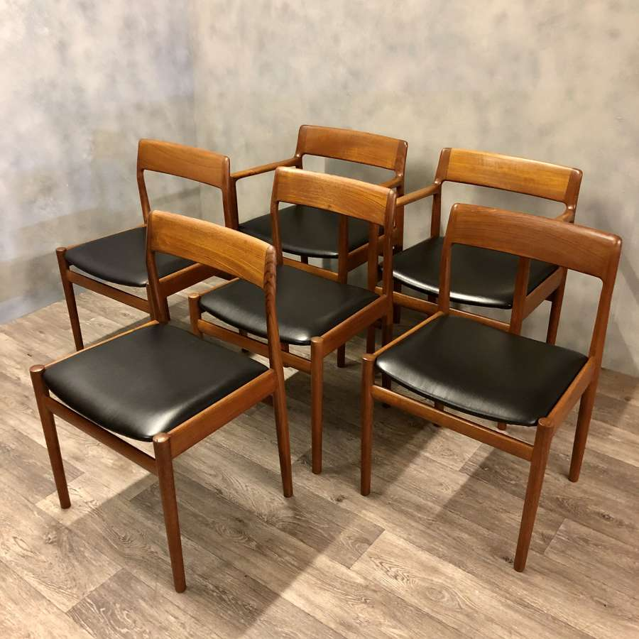 Dalescraft midcentury dining chairs (6)