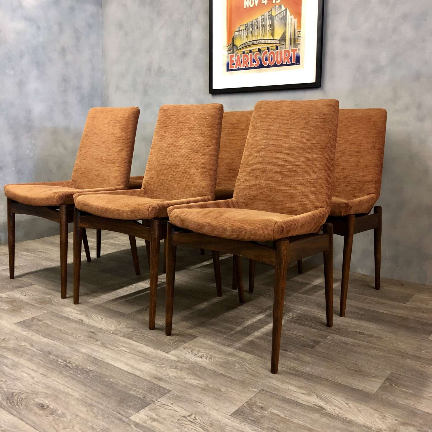 Archie Shine dining chairs rosewood (6)