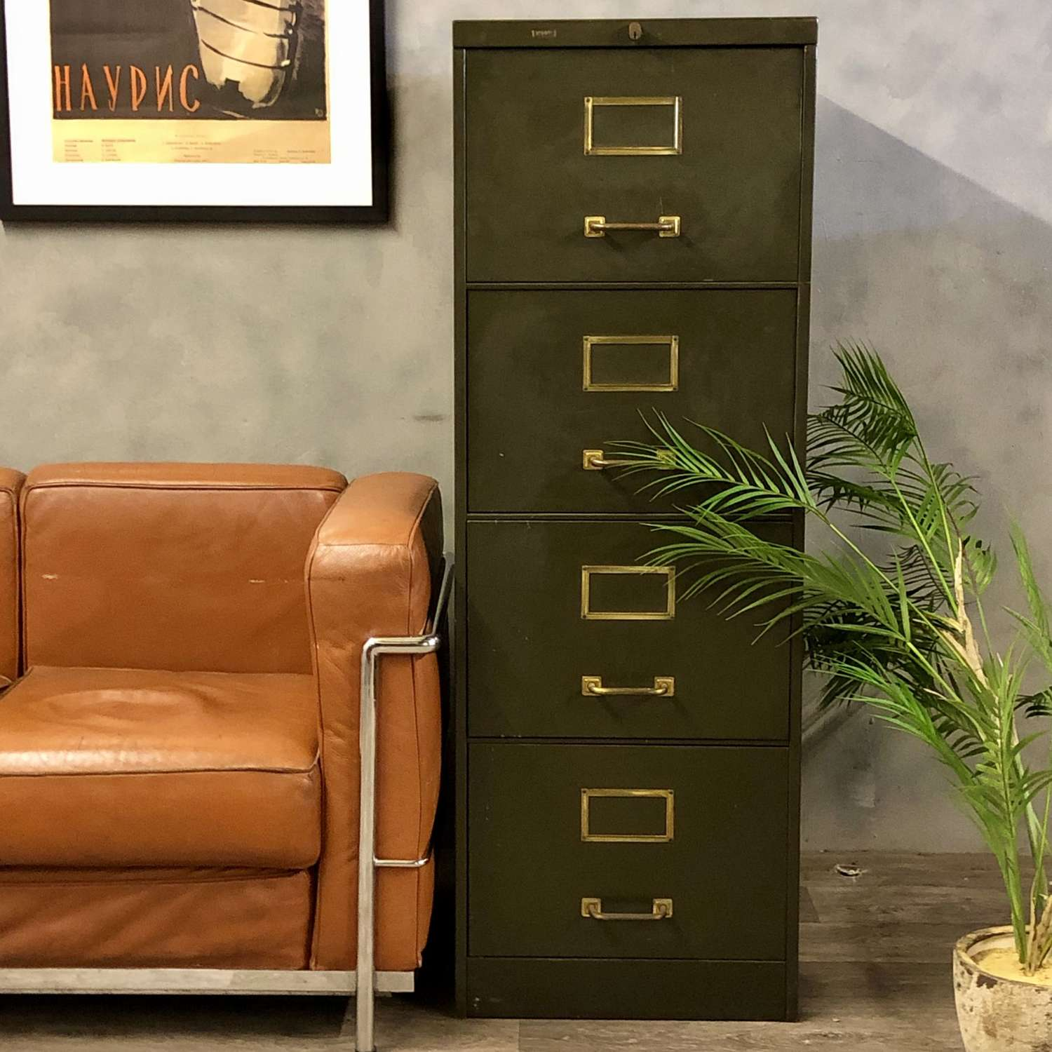 Vintage Roneo filing cabinet
