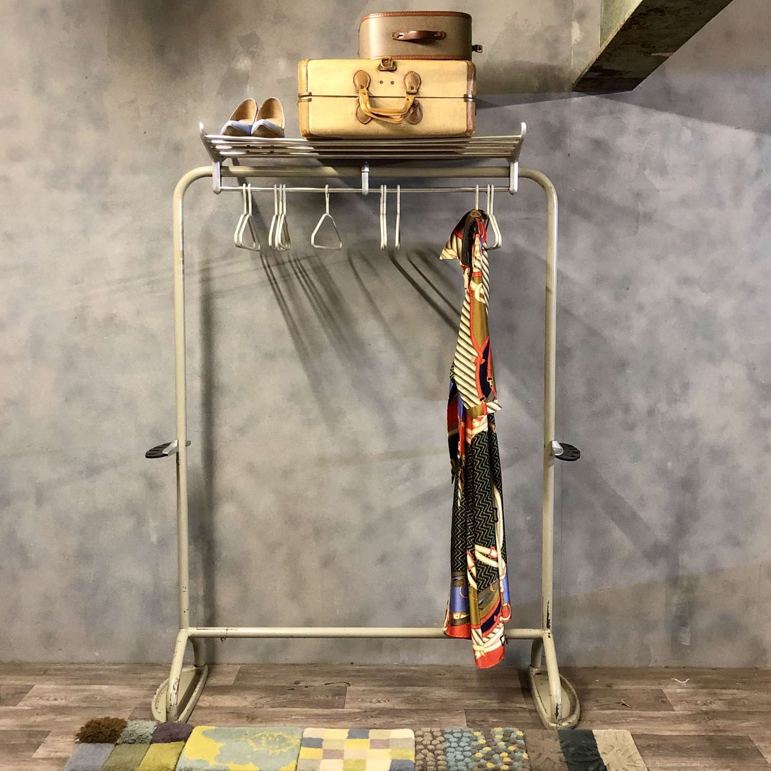 Coat and hat stand 1965 steel