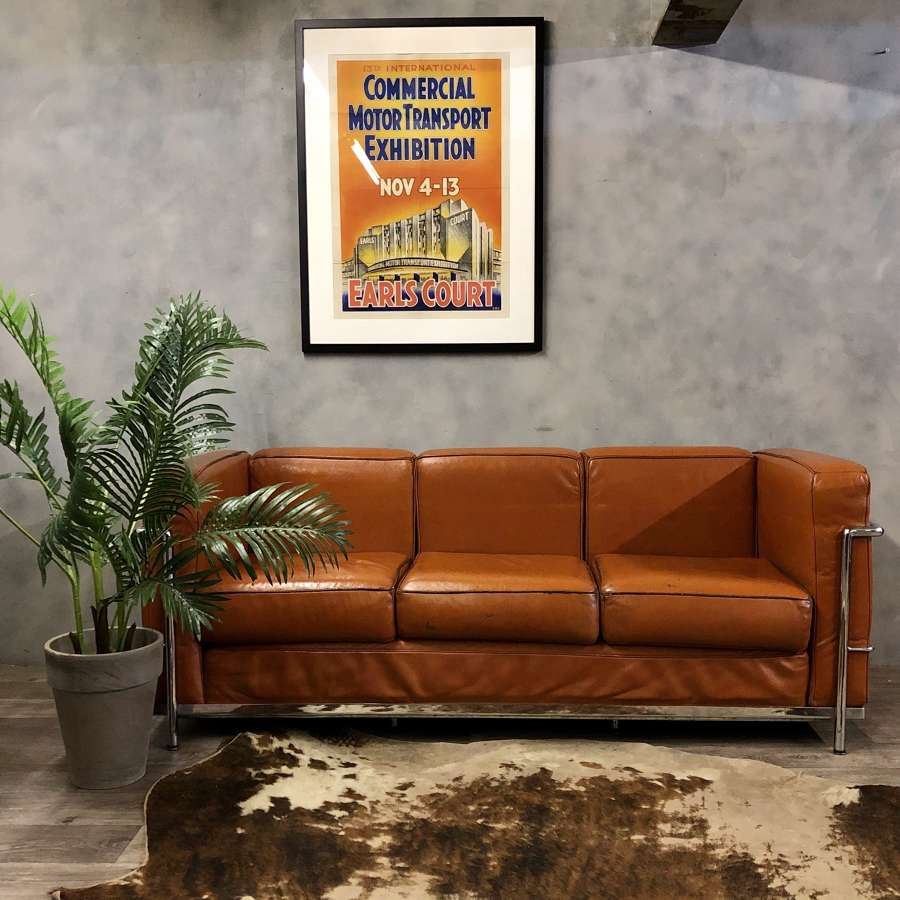 Corbusier style 3 seater sofa