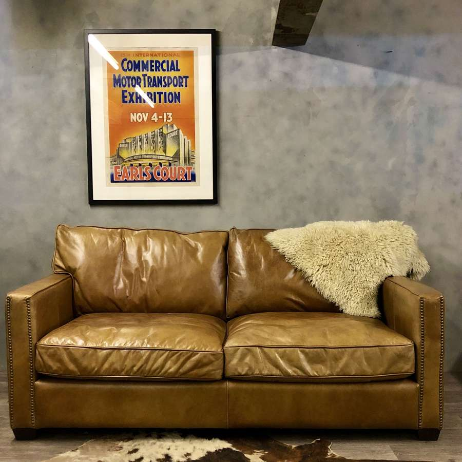 Vintage sofa tan leather
