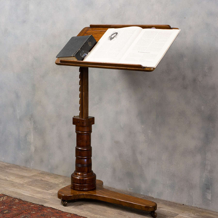 Antique mahogany reading stand