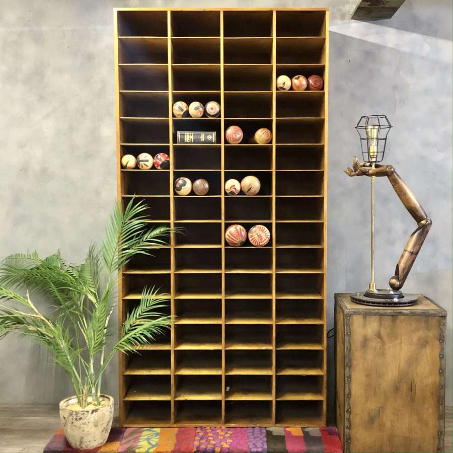 Vintage pigeon holes wall storage