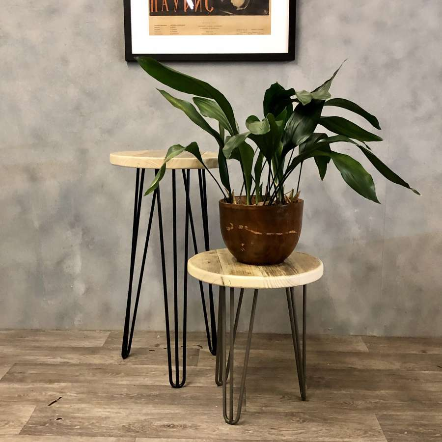 Hairpin occasional table or plant stand (tall)