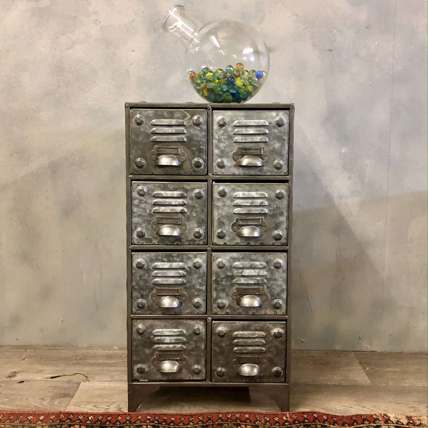Industrial cabinet 8 drawers galvanised small