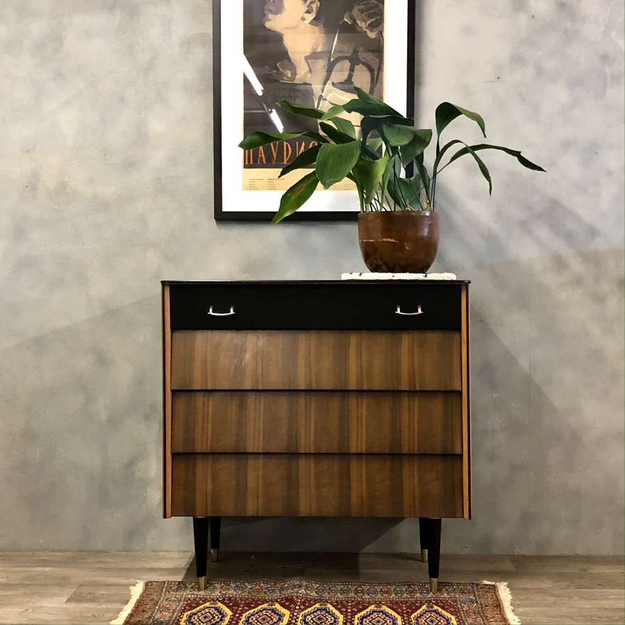 Midcentury chest drawers Avalon walnut