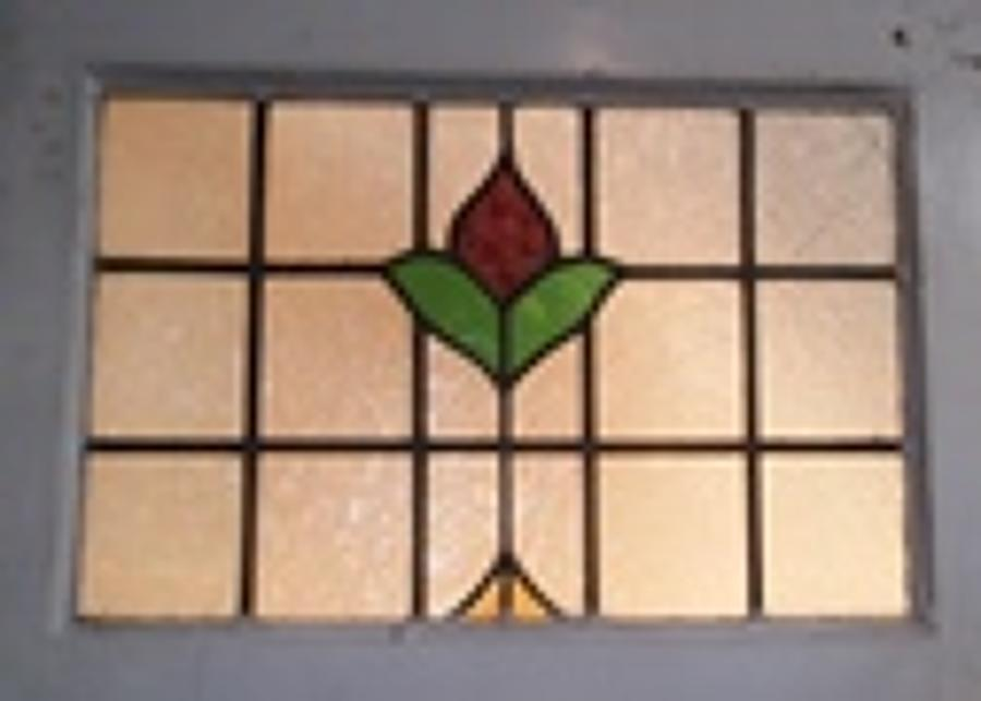 DE0426 An Edwardian Stained Glass Front Door