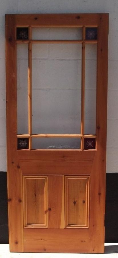 DI0348 A reproduction Victorian, Cardiff Style Pine Door