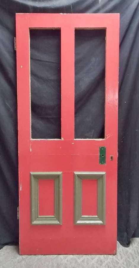 DB0708 RECLAIMED PAINTED PINE DOOR INTERNAL / EXTERNAL FOR GLAZING