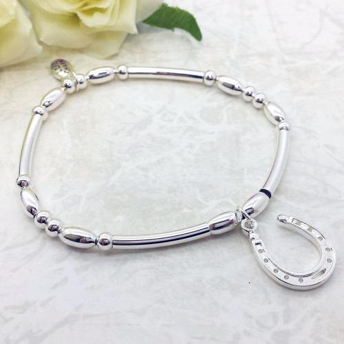Horseshoe Charm Stacking Bracelet