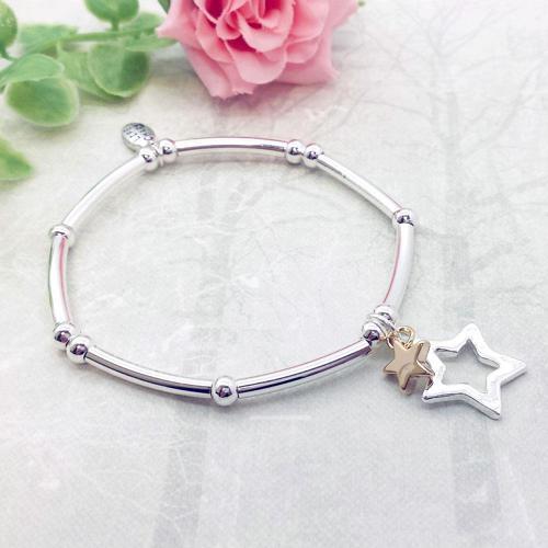 Stars Charm Stacking Bracelet