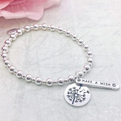 Make A Wish Charm Stacking Bracelet