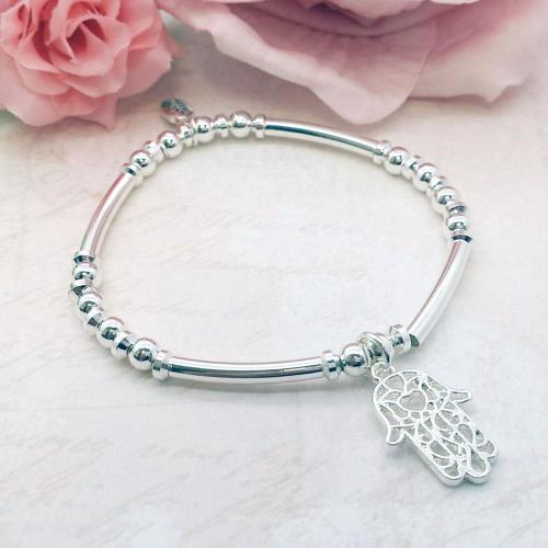 Hamsa Hand Charm Stacking Bracelet