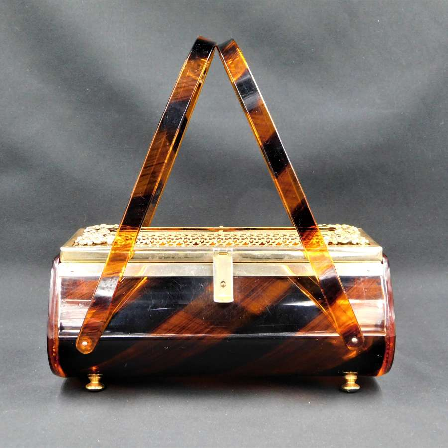 Tyrolean USA Tiger Stripe Lucite Bag