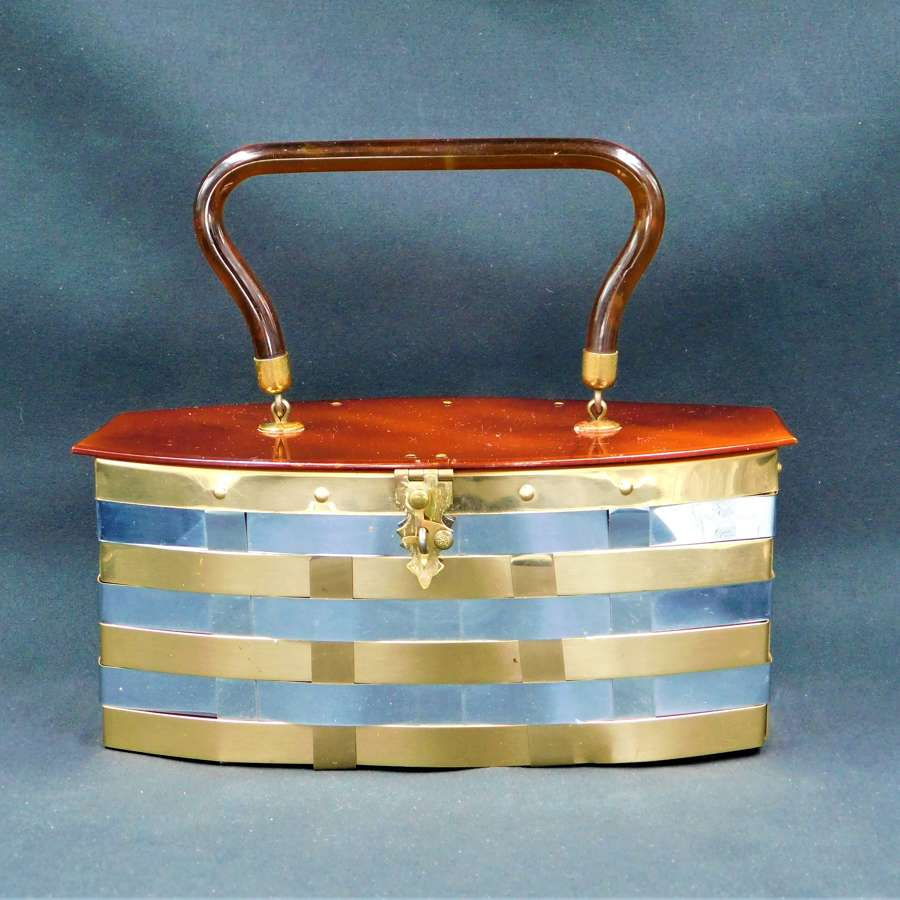 Dorset Rex Fifth Avenue Metal Weave and Lucite Bag