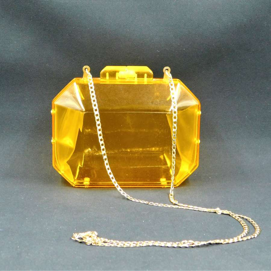 1970's Transparent Orange Lucite Bag