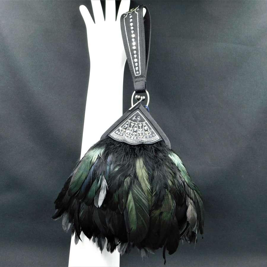 Lulu Guinness Feather Fan Evening Bag