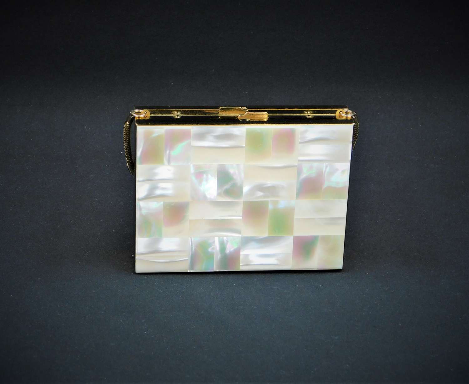 Vintage Mother of Pearl Compact Carryall