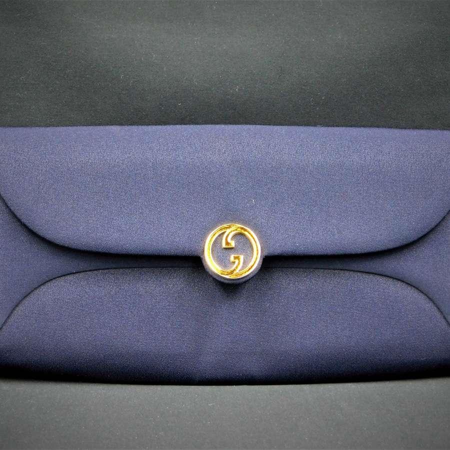 Vintage Gucci Fabric Clutch Bag