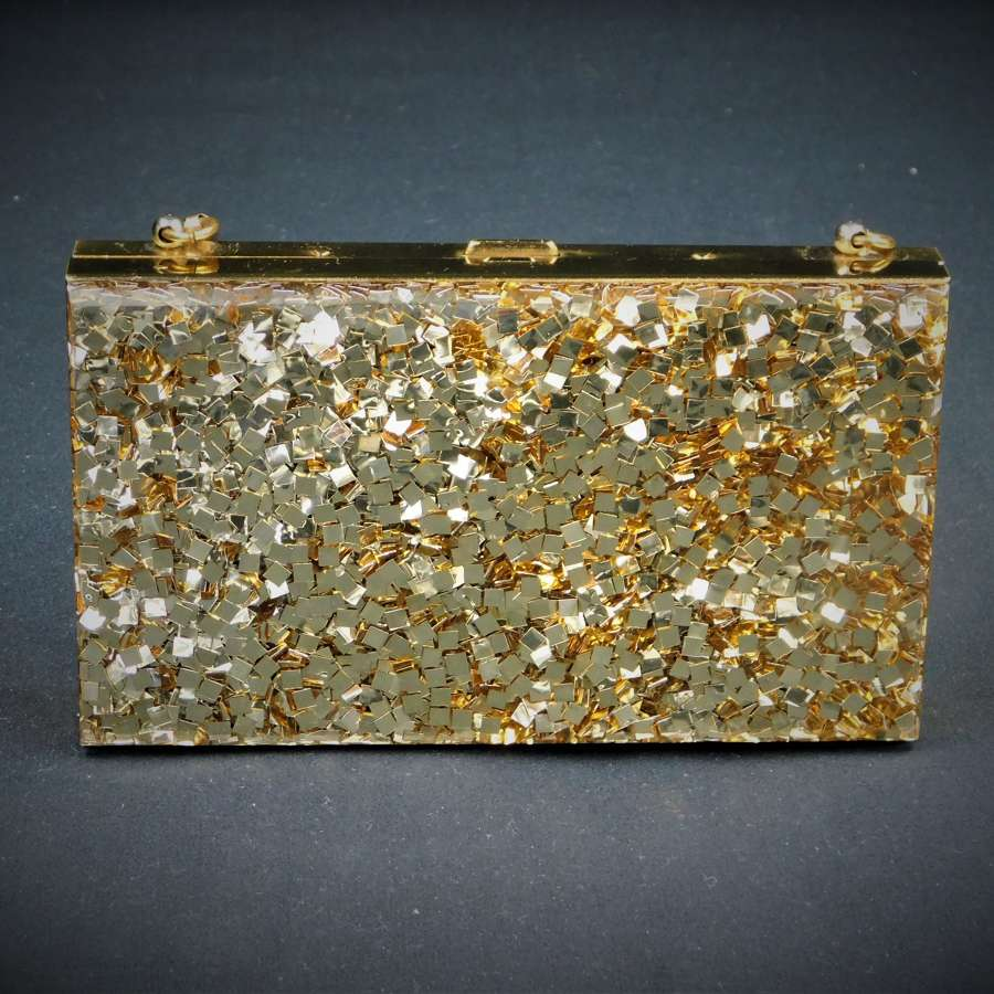 Glitter Lucite Compact Carryall