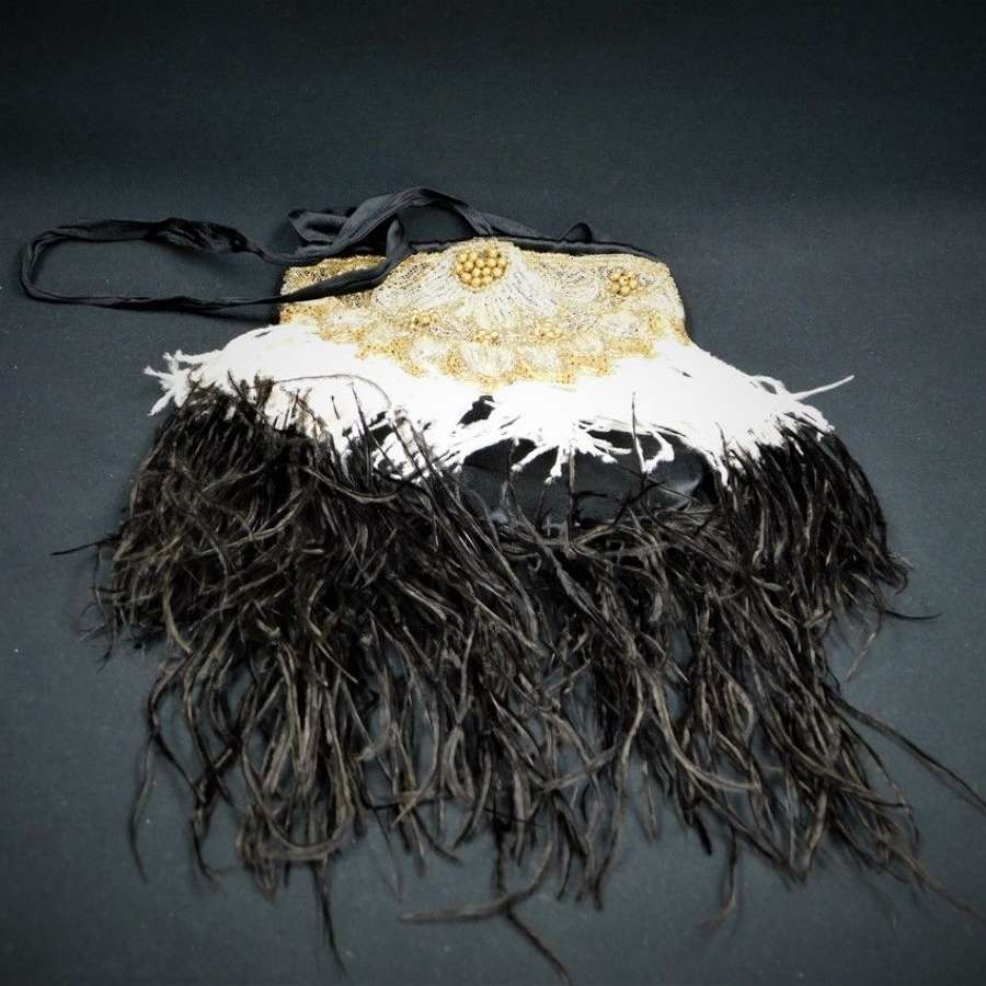 Art Deco Feather Evening Bag