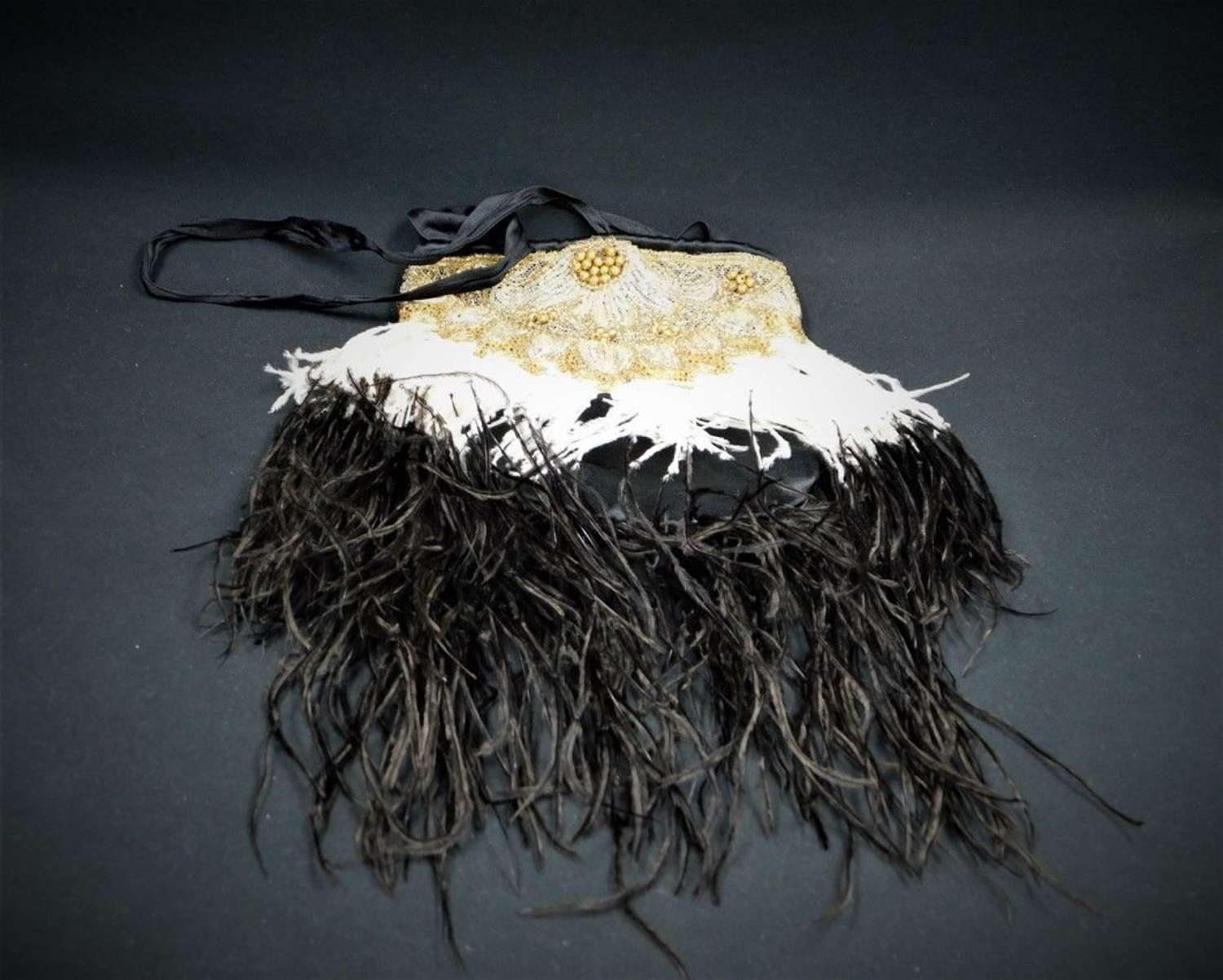 Art Deco Feather Evening Bag