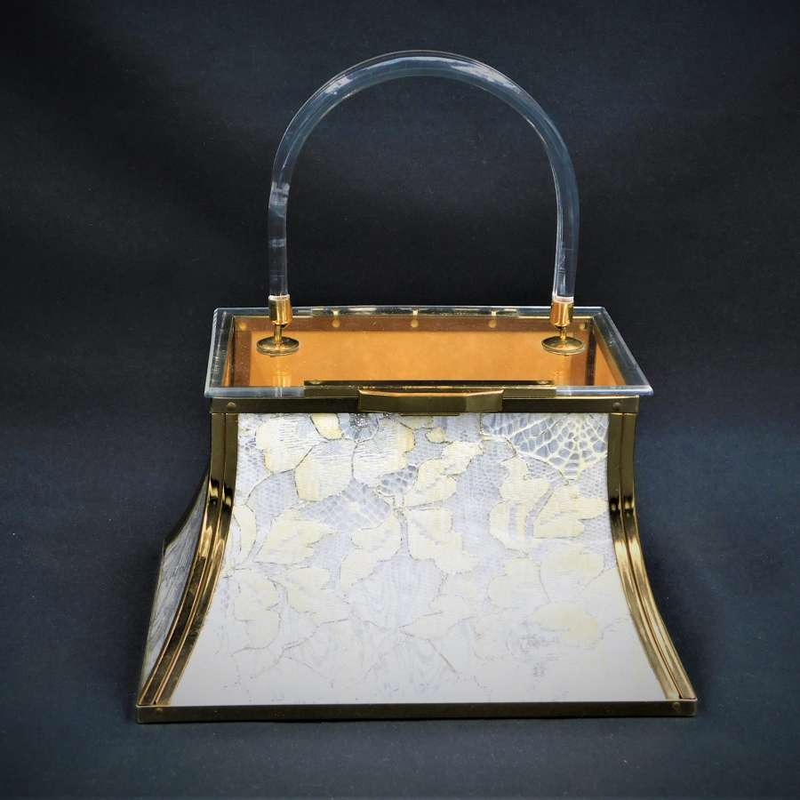 Stunning Majestic USA Lucite Bag